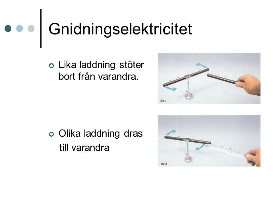 Åska Åska bildas när moln blir elektriskt laddade p.g.a.