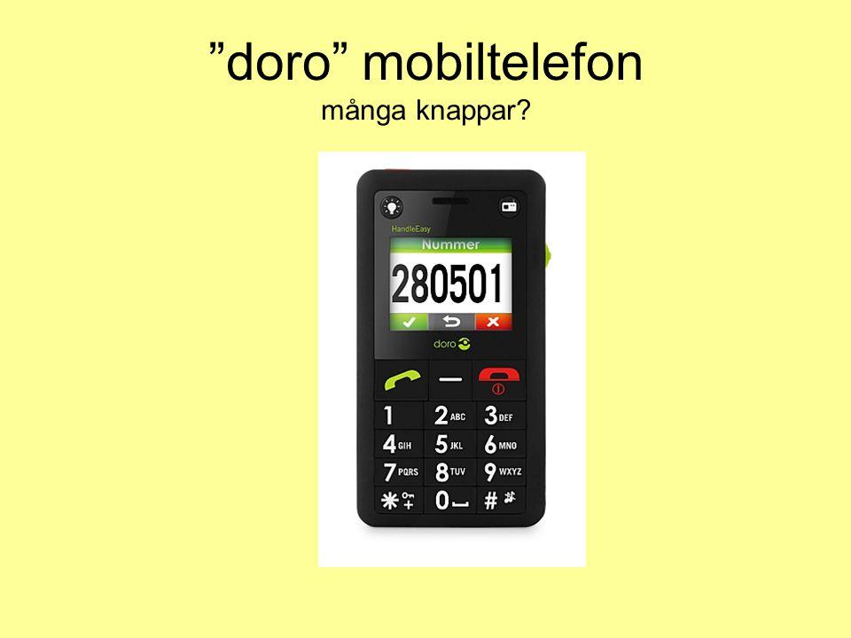 doro mobiltelefon många knappar?