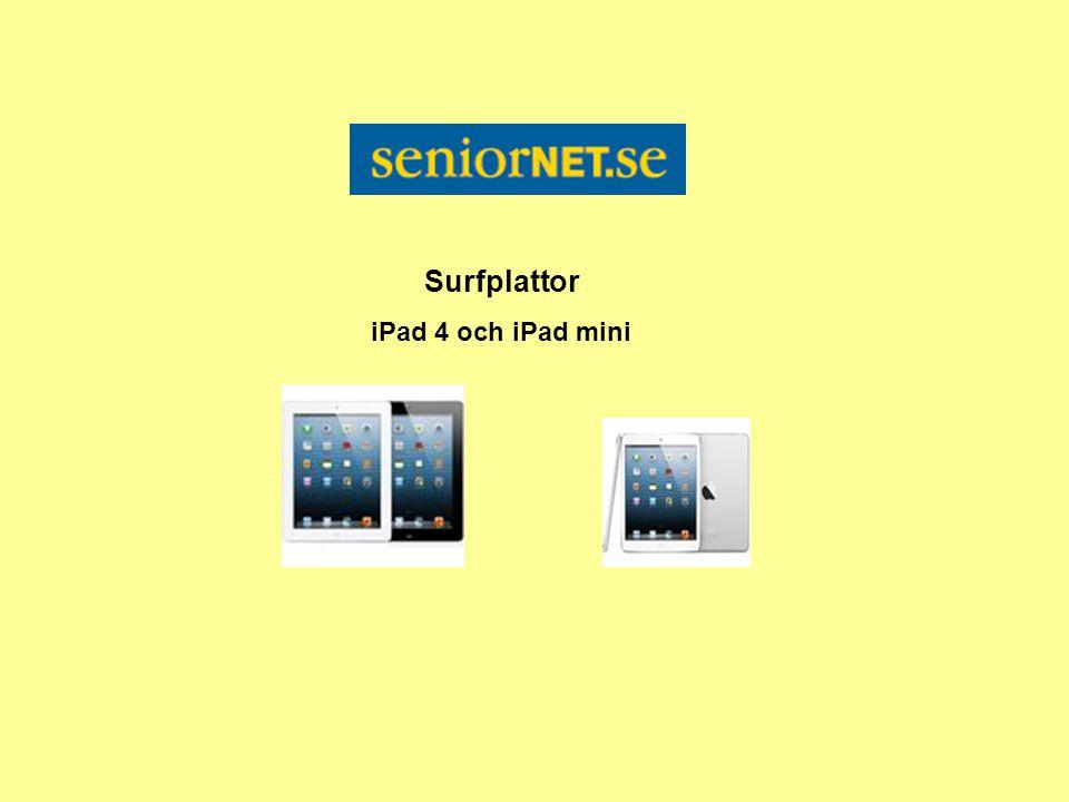 Surfplattor iPad 4 och iPad mini