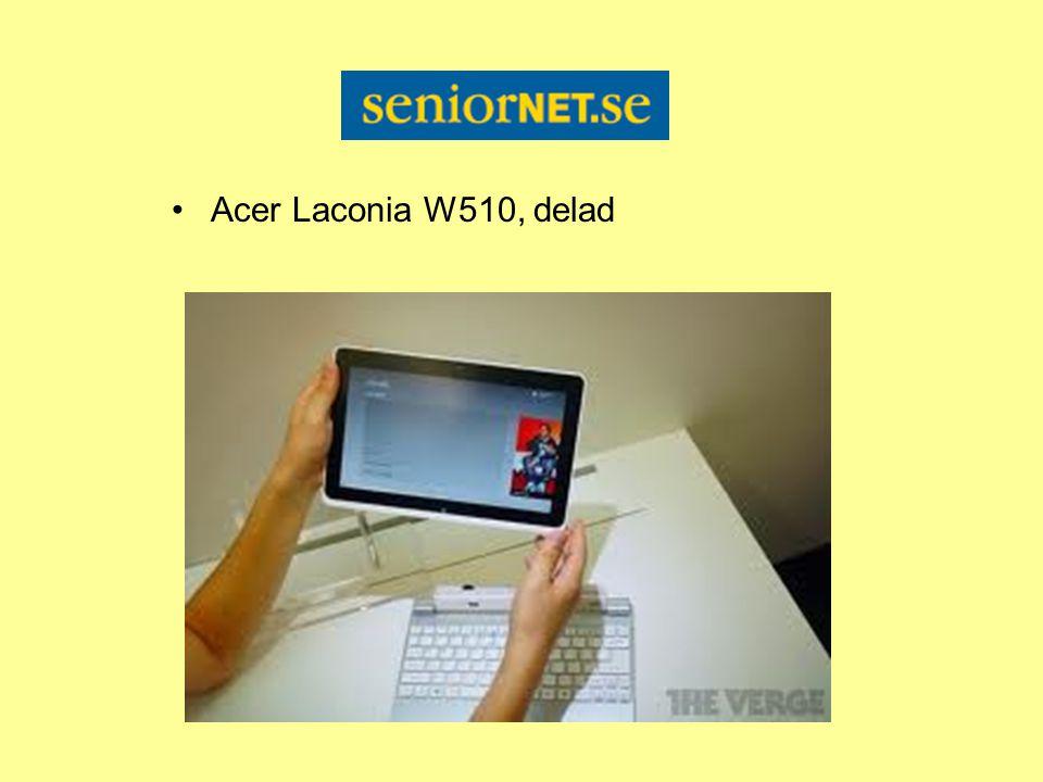 Acer Laconia W510, delad