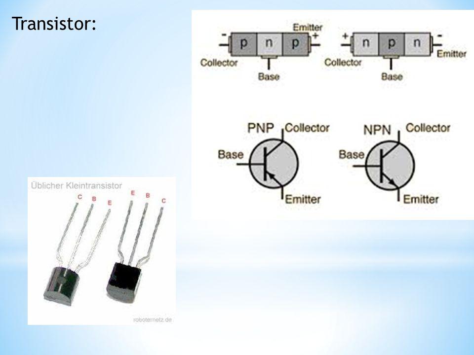 Lysdiod: En lysdiod fungerar som en vanlig diod, men dessutom lyser den.