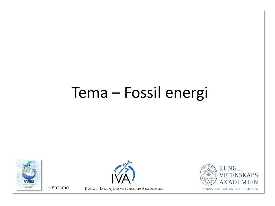 B Kasemo Tema – Fossil energi