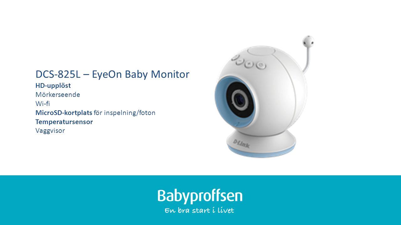 XXXXX DCS-825L – EyeOn Baby Monitor HD-upplöst Mörkerseende Wi-fi MicroSD-kortplats för inspelning/foton Temperatursensor Vaggvisor