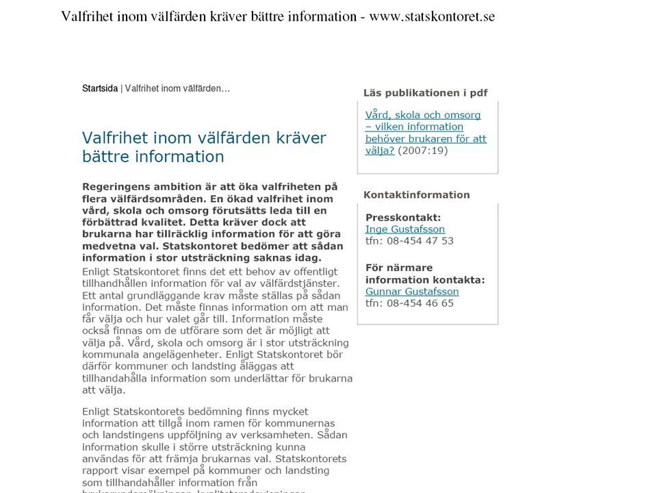 Gymnasieskolors hemsidor på Internet – samhällsinformation eller reklam.