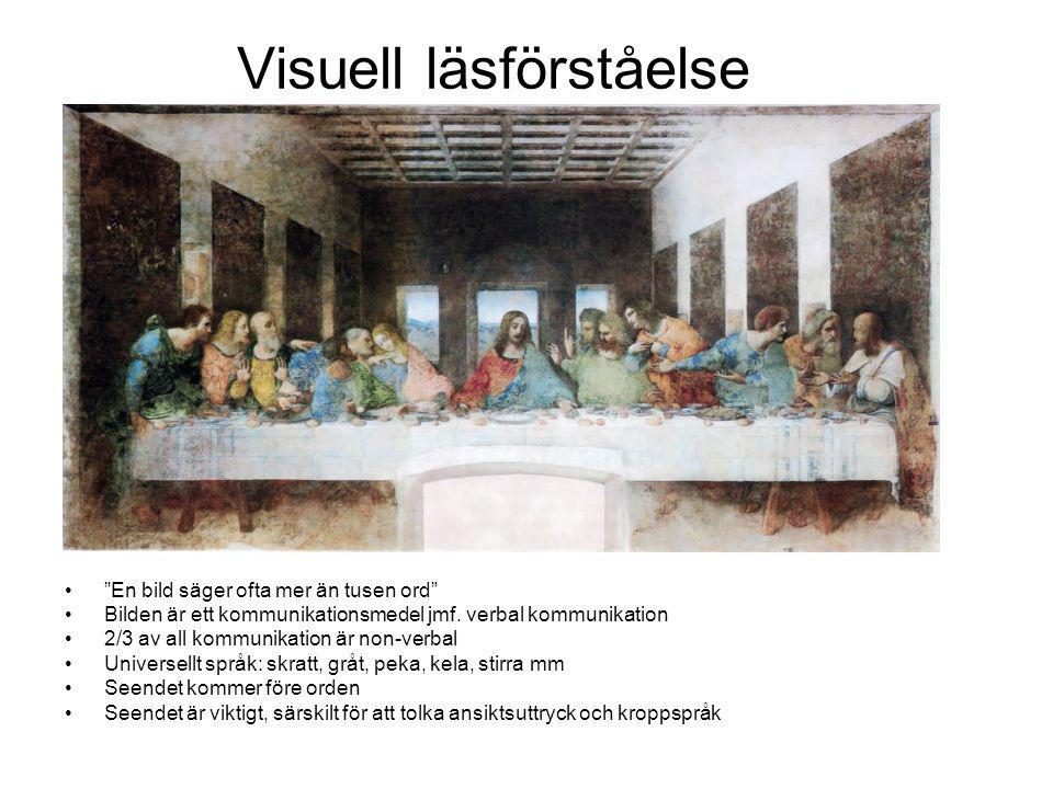 Visuell läsförståelse En bild säger ofta mer än tusen ord Bilden är ett kommunikationsmedel jmf.