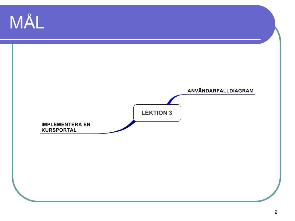 3 Begrepp Aktör: en användare som interagerar med webbplatsen.