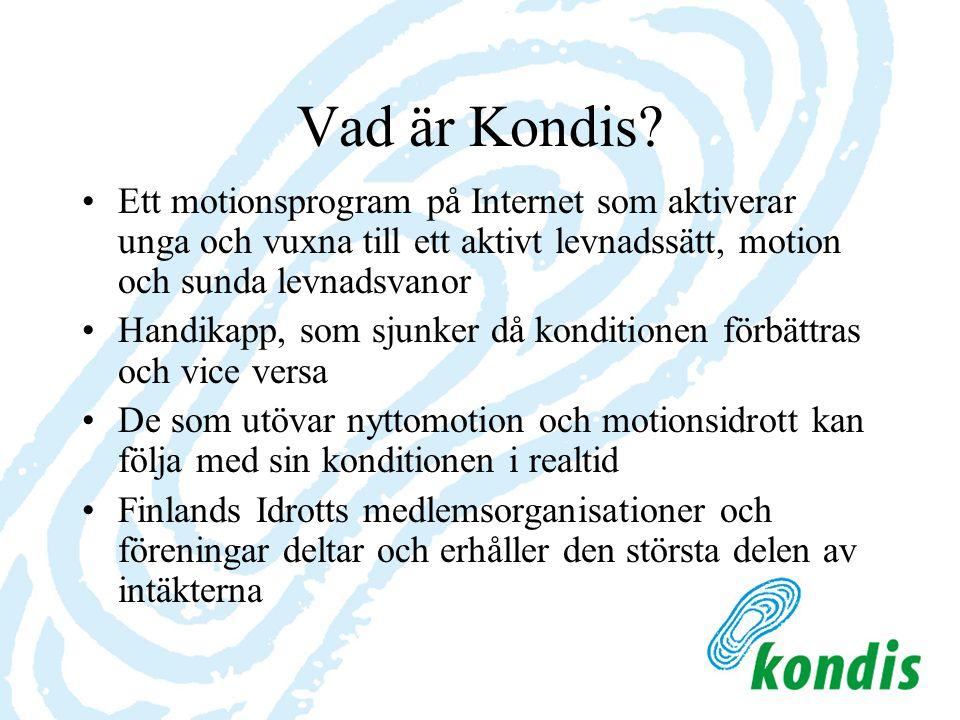 Vad är Kondis? Ett motionsprogram på Internet som aktiverar unga och vuxna till ett aktivt levnadssätt, motion och sunda levnadsvanor Handikapp, som s