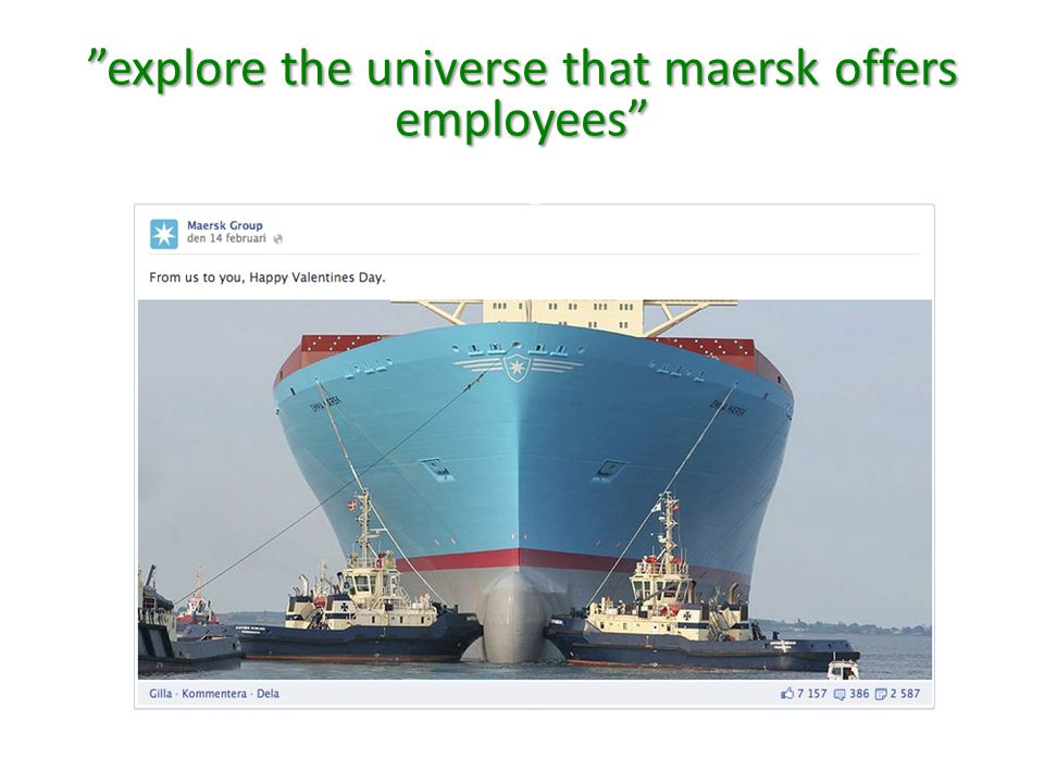 explore the universe that maersk offers employees