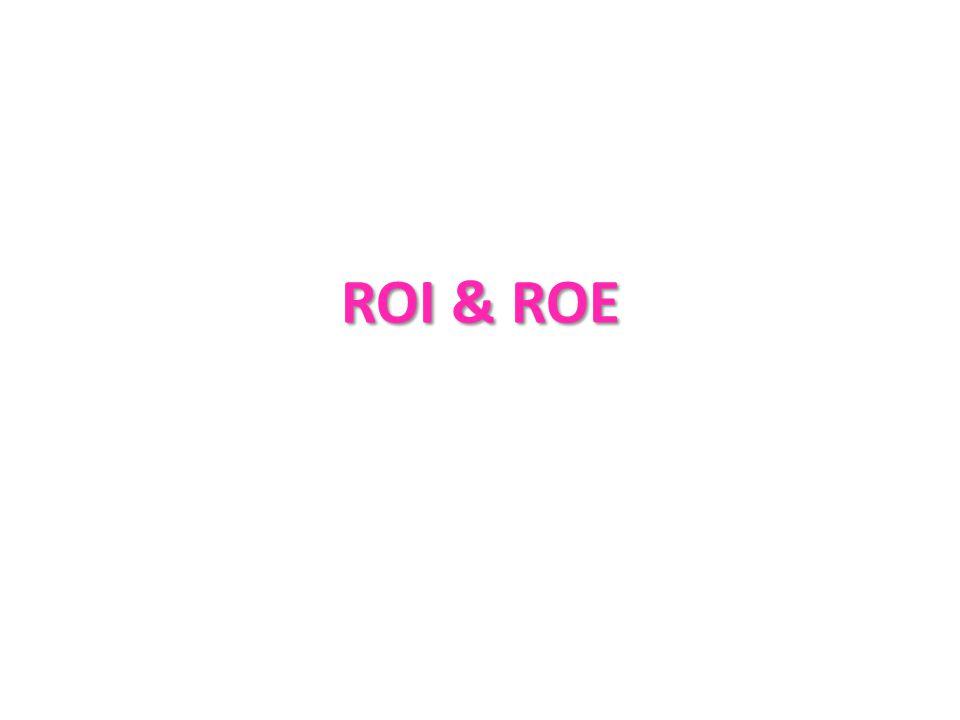ROI & ROE