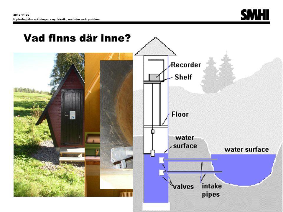 Vad finns där inne? Hydrologiska mätningar – ny teknik, metoder och problem 5 2013-11-06