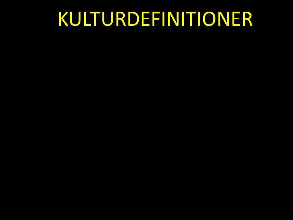 KULTURDEFINITIONER