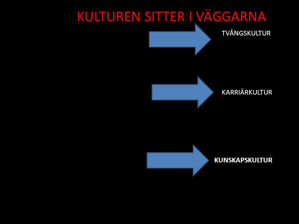 TVÅNGSKULTUR KARRIÄRKULTUR KUNSKAPSKULTUR KULTUREN SITTER I VÄGGARNA