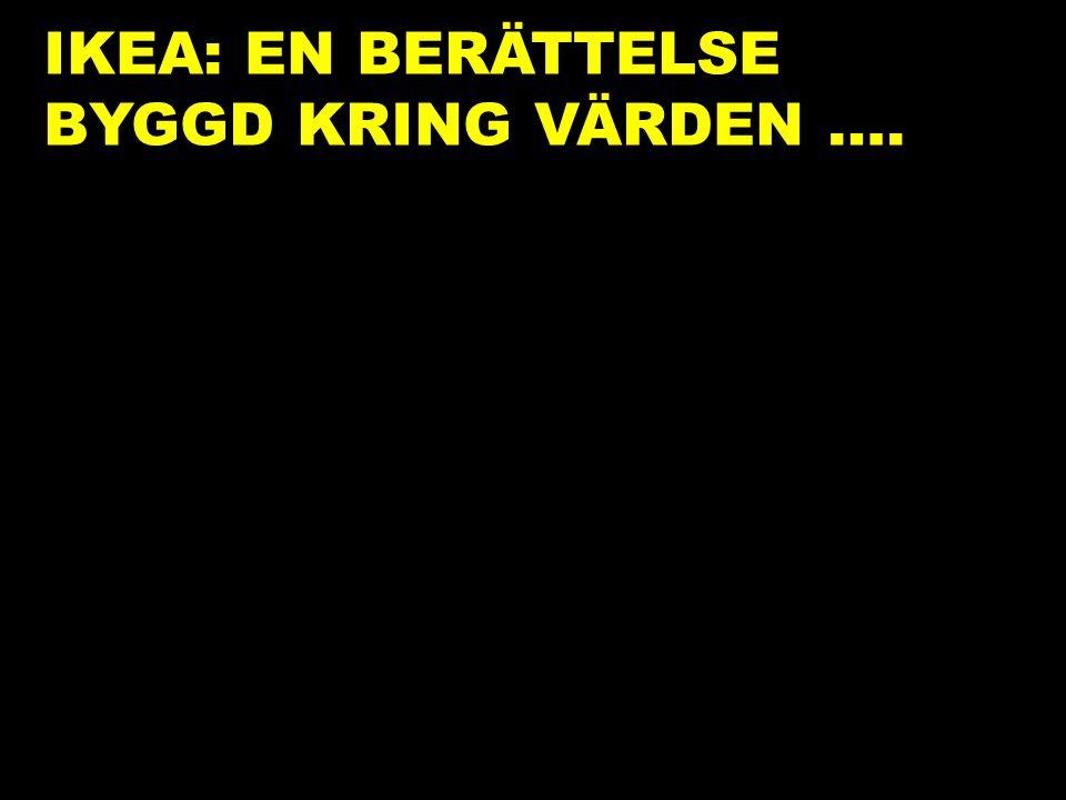 IKEA: EN BERÄTTELSE BYGGD KRING VÄRDEN ….
