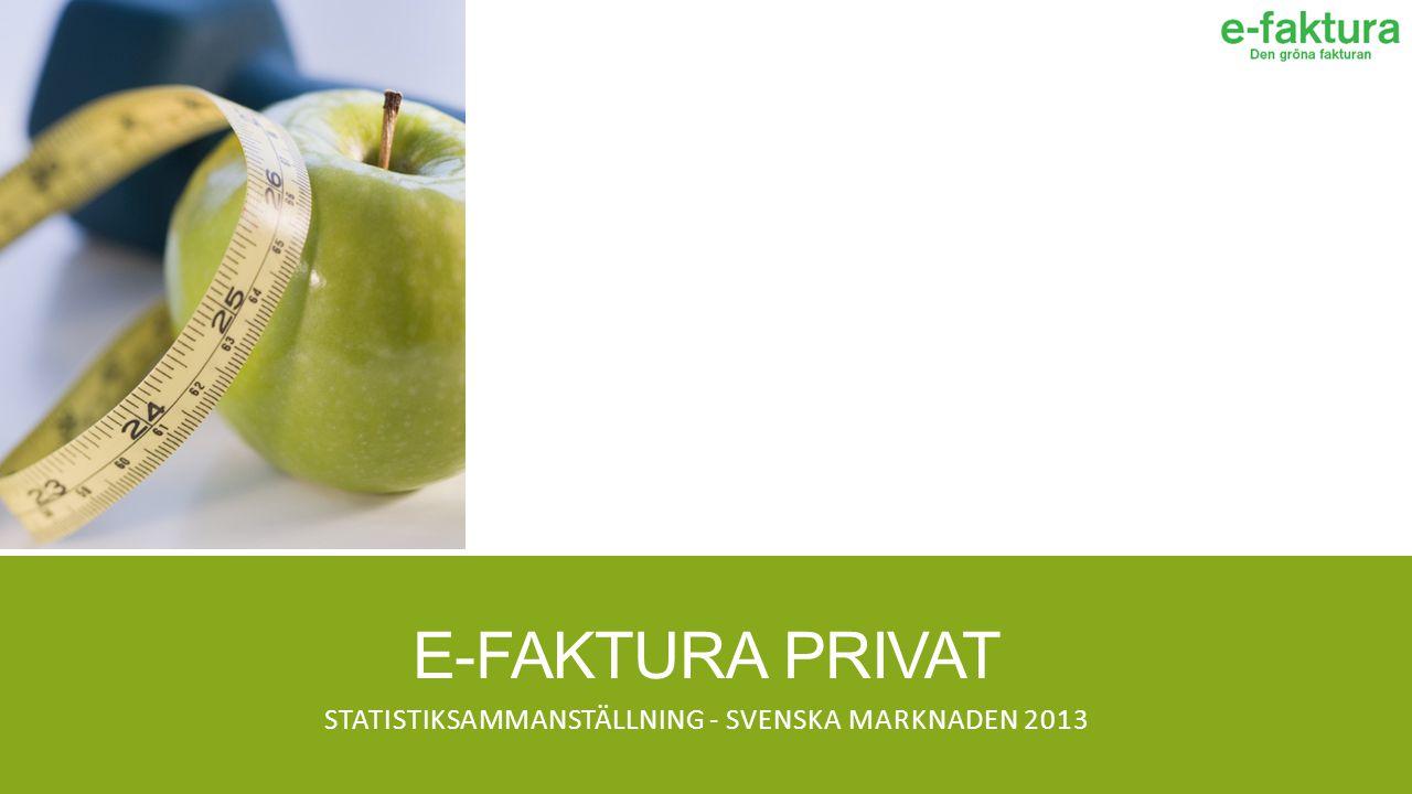 E-FAKTURA PRIVAT STATISTIKSAMMANSTÄLLNING - SVENSKA MARKNADEN 2013