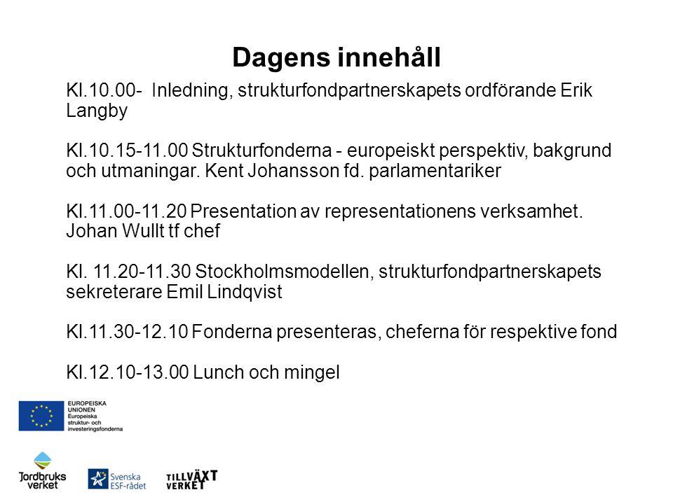 Stockholmsmodellen Målsättning Stockholmsmodell en Att skapa sammanhållna strategiska satsningar Satsningarna ska ta sin utgångspunkt i de regionala utmaningarna – Rufs 2010 Ökat regionalt ägarskap.