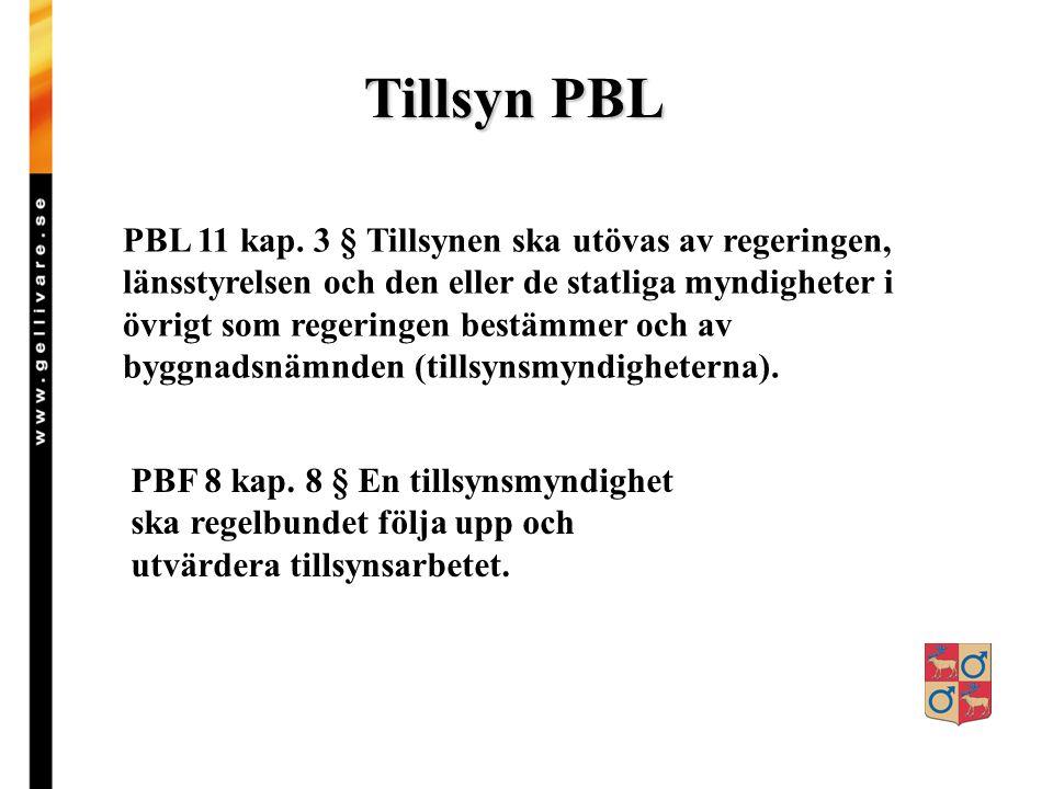 Tillsyn enligt PBL Byggtill- syn Tillgäng- lighet Hissar Strand- Skydd