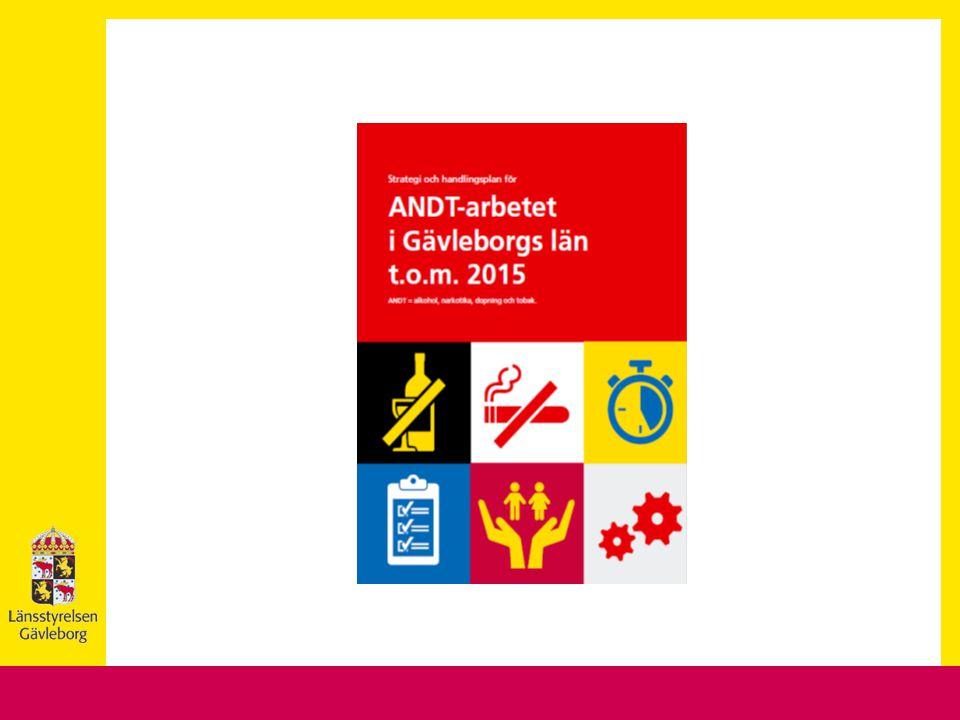 Regional ANDT strategi /handlingsplans syfte att bygga en gemensam plattform för ett samlat agerande på länsnivå samt att tydliggöra rollerna i det ANDT-förebyggande arbetet handlingsplanen är att konkretisera och att stärka samverkan och effekterna av insatserna