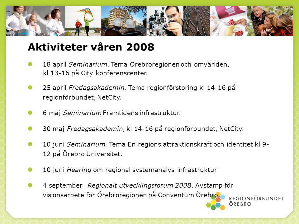 Aktiviteter våren 2008 18 april Seminarium.