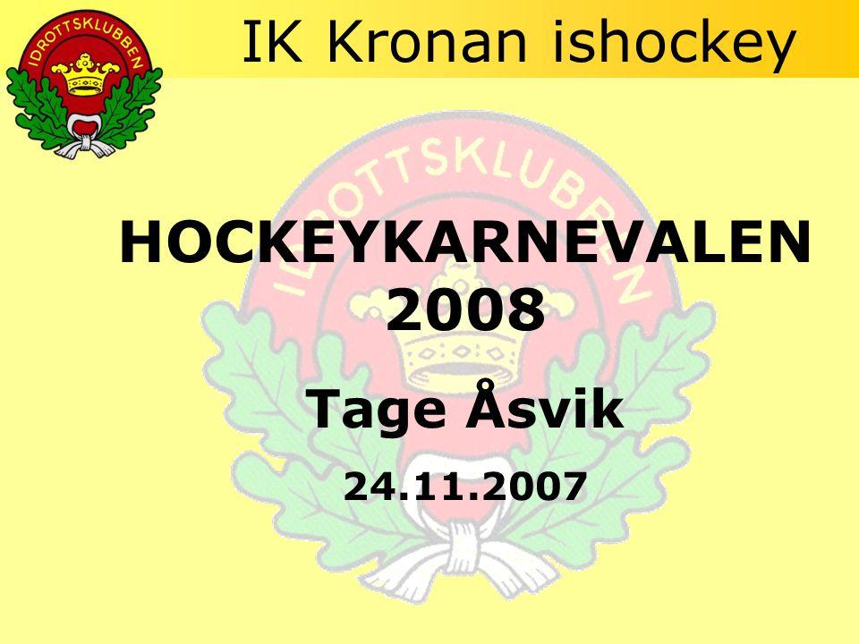 IK Kronan ishockey HOCKEYKARNEVALEN 2008 Tage Åsvik 24.11.2007