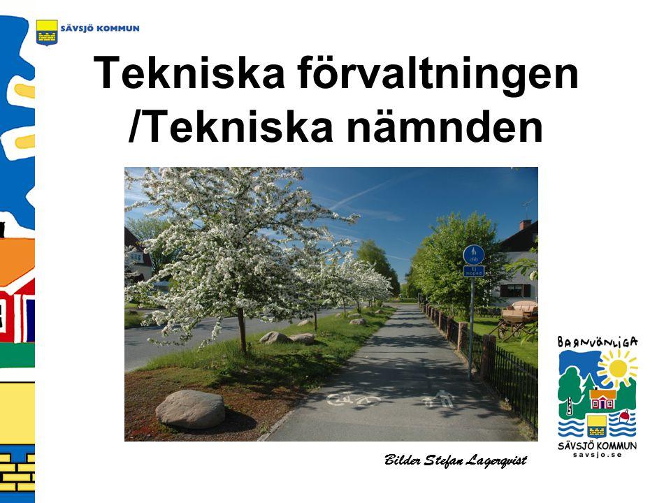 Organisation Tekniska nämnd (7) Teknisk chef (1) Gatuenheten (9) VA- och avfallsenheten (7) Parkenheten (7) Fastighets- enheten (7) Bostads- anpassning (1) Lokalvårds- enheten under 2007 Gemensam verksamhet (2)