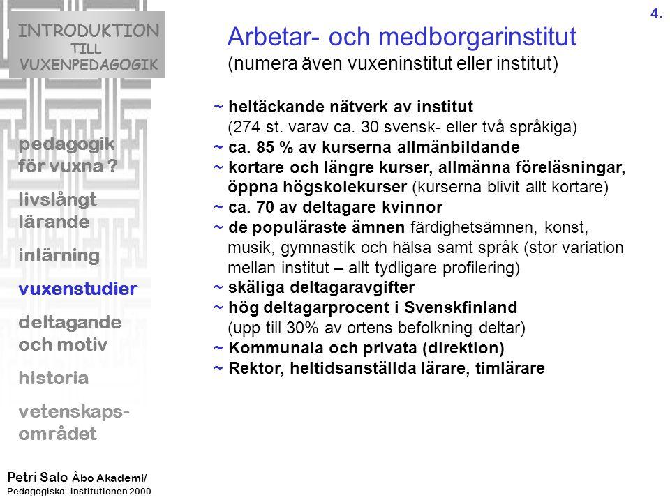 INTRODUKTION TILL VUXENPEDAGOGIK pedagogik för vuxna .
