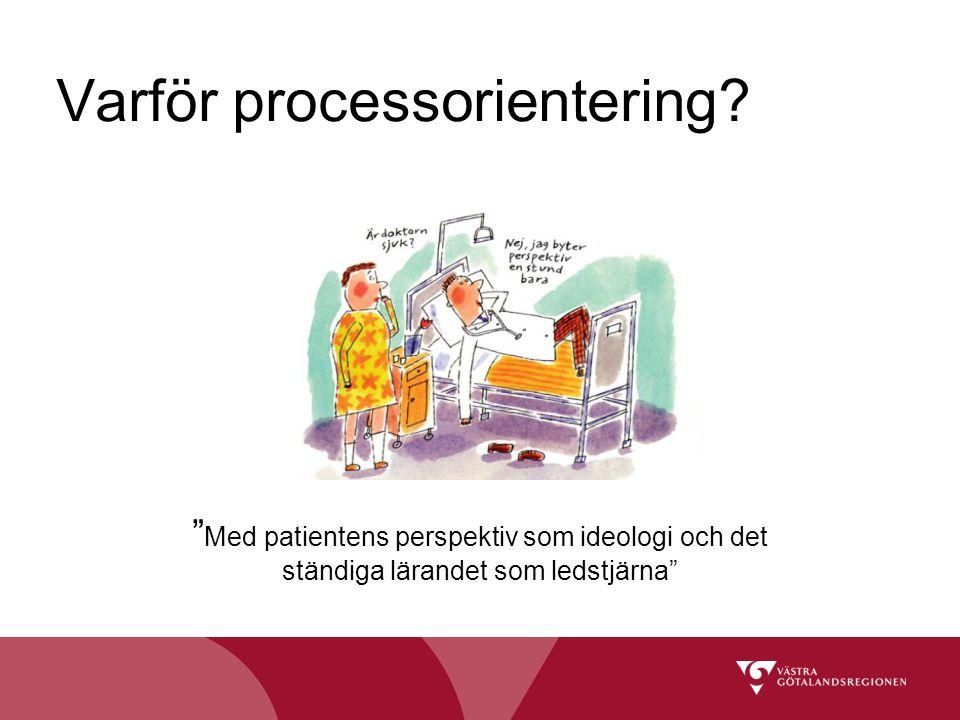 """Varför processorientering? """" Med patientens perspektiv som ideologi och det ständiga lärandet som ledstjärna"""""""