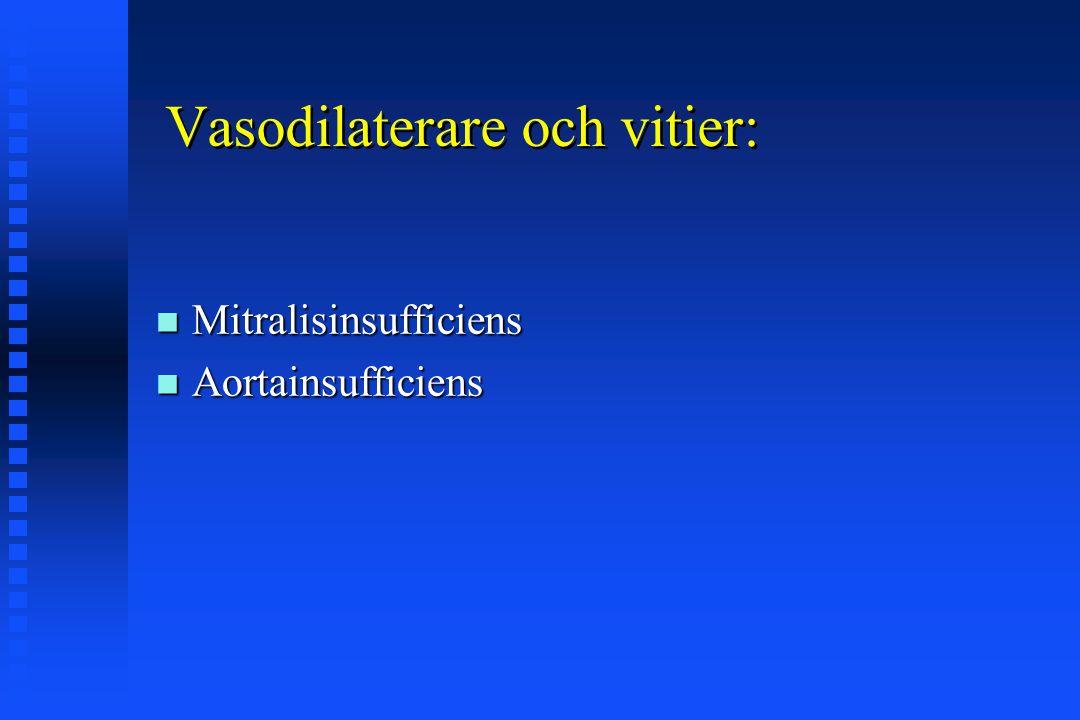 Övertrycksandning och VK funktion preload minskar: preload minskar: LVEDPtm = (LVEDP - intrathor.