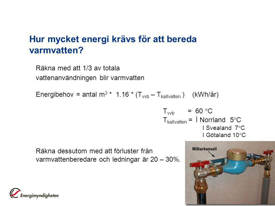 9 Hur mycket energi krävs för att bereda varmvatten.