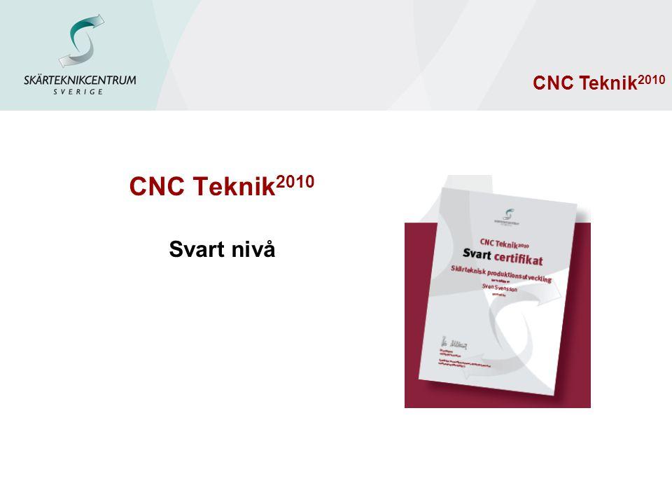 CNC Teknik 2010 Svart nivå CNC Teknik 2010