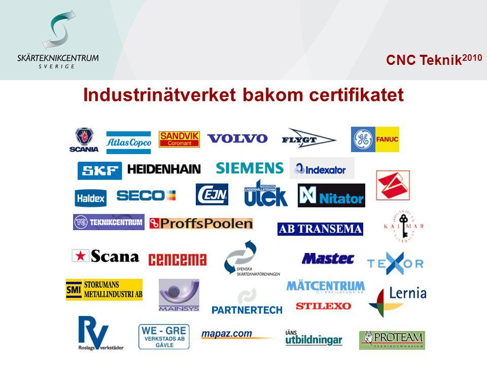 Industrinätverket bakom certifikatet CNC Teknik 2010