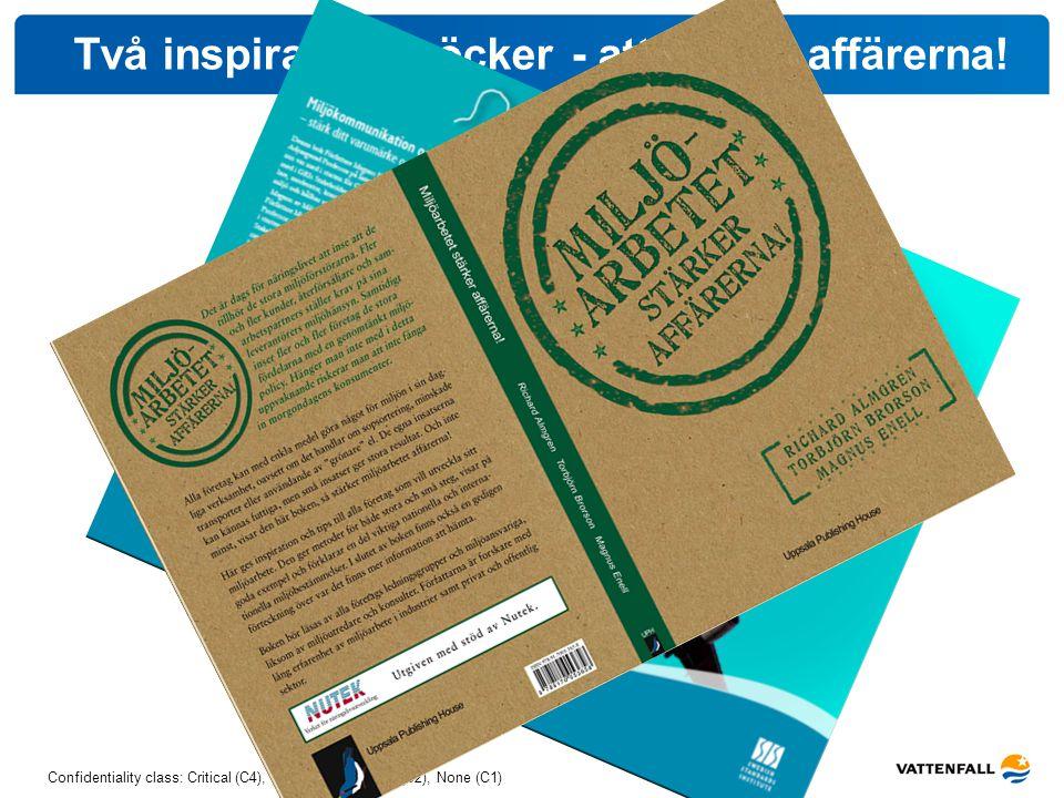 Confidentiality class: Critical (C4), High (C3), Medium (C2), None (C1) Två inspirationsböcker - att stärka affärerna!
