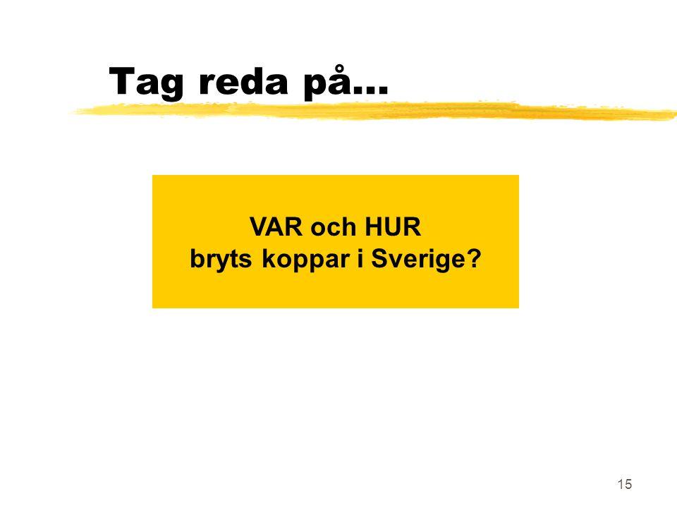 15 Tag reda på... VAR och HUR bryts koppar i Sverige?