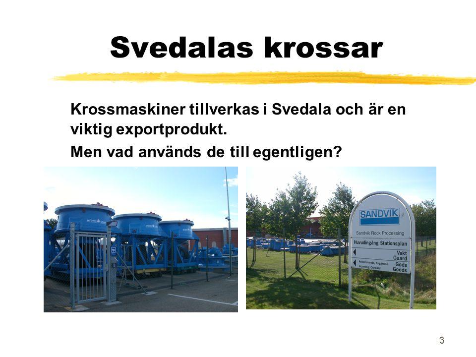 3 Svedalas krossar Krossmaskiner tillverkas i Svedala och är en viktig exportprodukt. Men vad används de till egentligen?