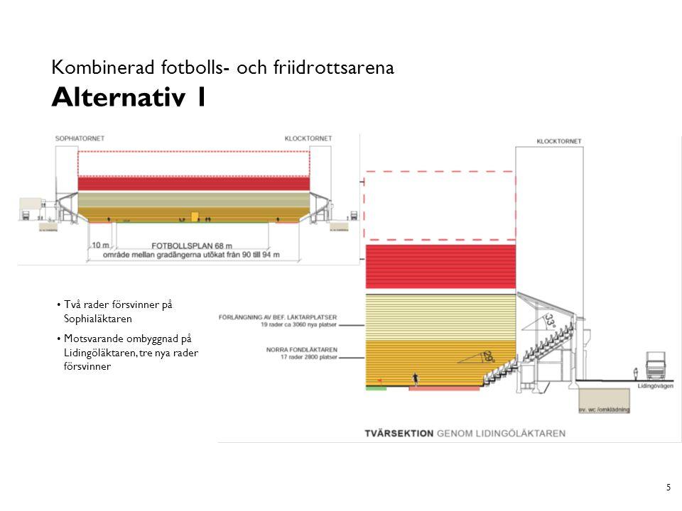 6 Kombinerad fotbolls- och friidrottsarena Alternativ 2