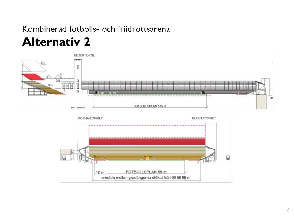 7 Kombinerad fotbolls- och friidrottsarena Alternativ 3