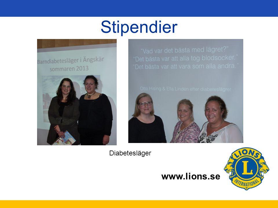 www.lions.se Stipendier Diabetesläger