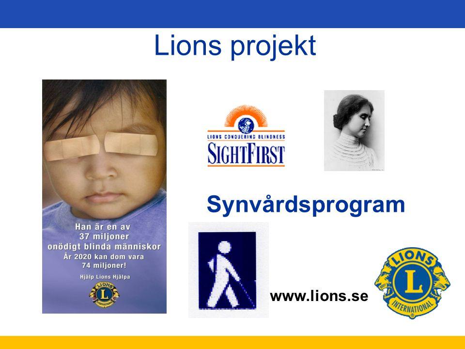 www.lions.se Synvårdsprogram Lions projekt