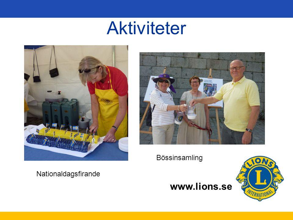 www.lions.se Aktiviteter Nationaldagsfirande Bössinsamling
