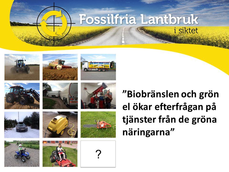 Biobränslen och grön el ökar efterfrågan på tjänster från de gröna näringarna