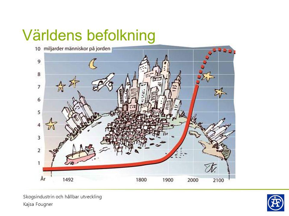 Världens befolkning Skogsindustrin och hållbar utveckling Kajsa Fougner