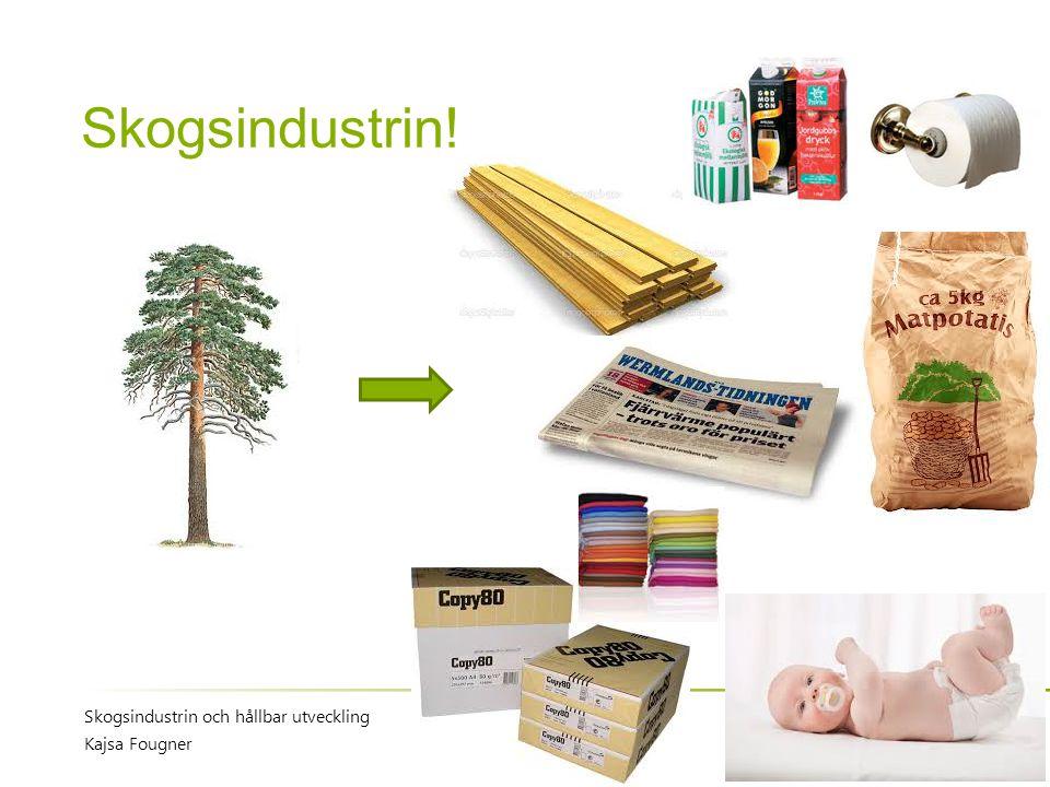 Skogsindustrin! Skogsindustrin och hållbar utveckling Kajsa Fougner