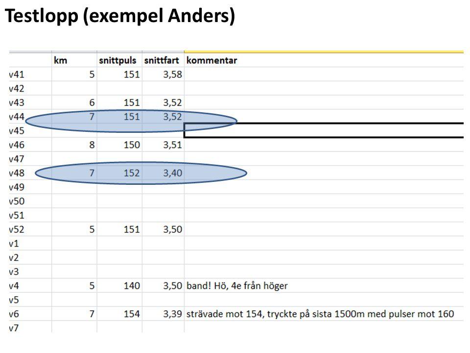 Testlopp (exempel Anders)