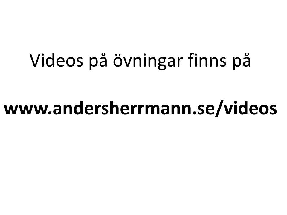 Videos på övningar finns på www.andersherrmann.se/videos