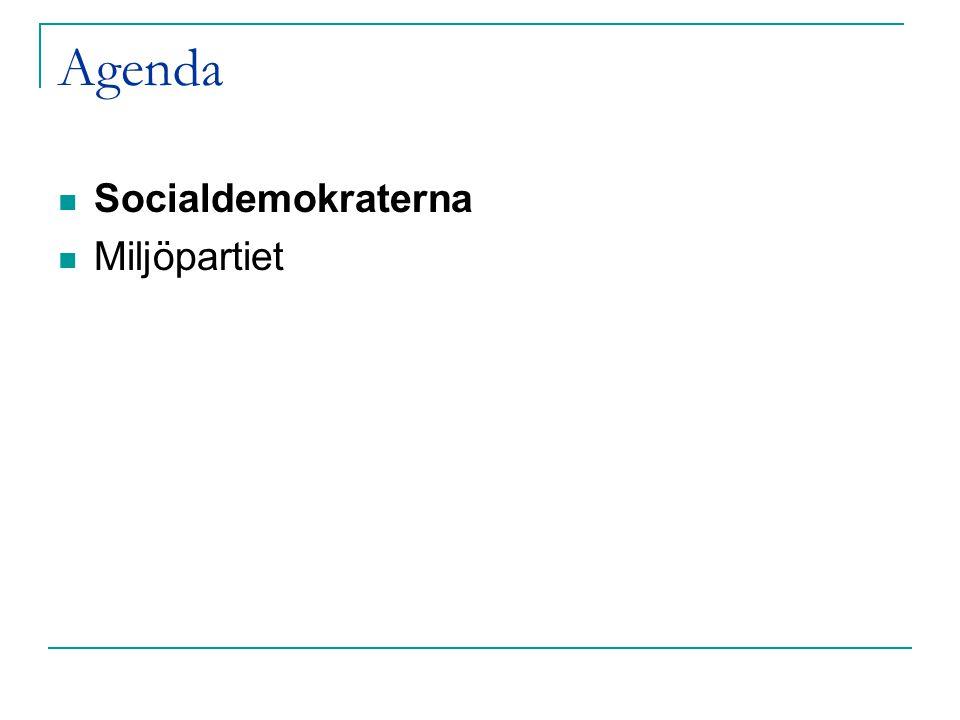 Agenda Socialdemokraterna Miljöpartiet