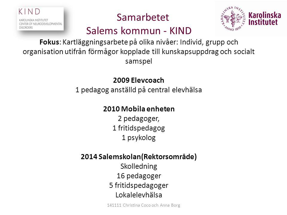 Samarbetet Salems kommun - KIND Fokus: Kartläggningsarbete på olika nivåer: Individ, grupp och organisation utifrån förmågor kopplade till kunskapsupp