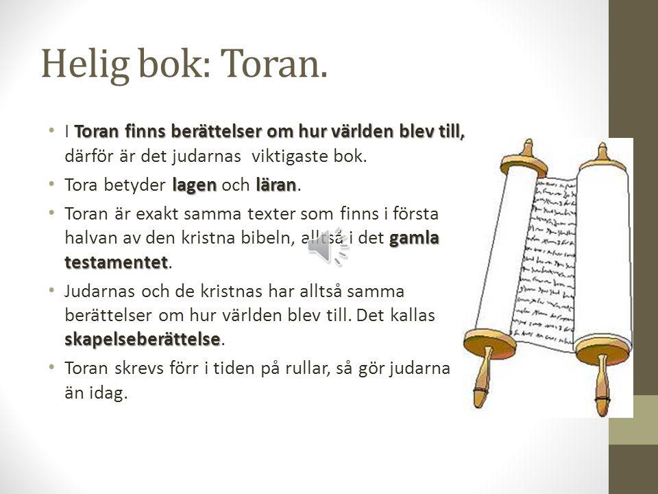 Helig bok: Toran.