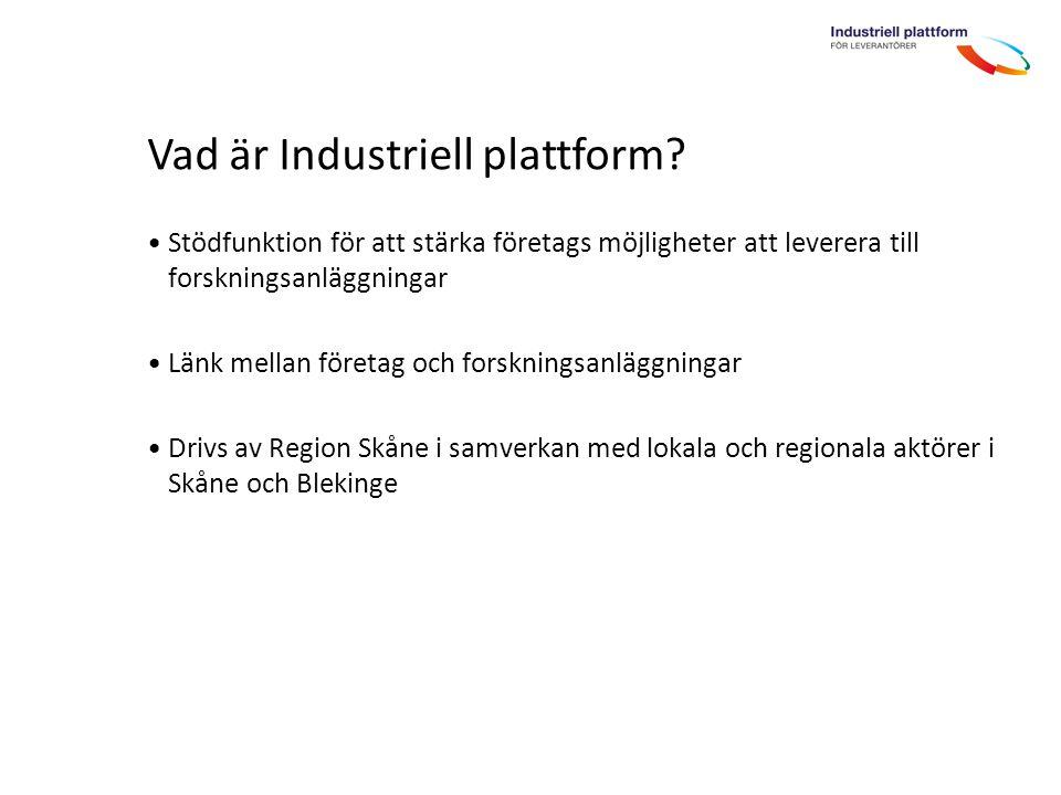 Vad är Industriell plattform.