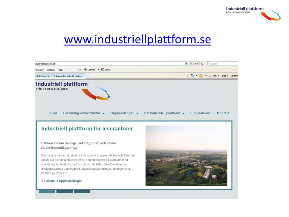 www.industriellplattform.se