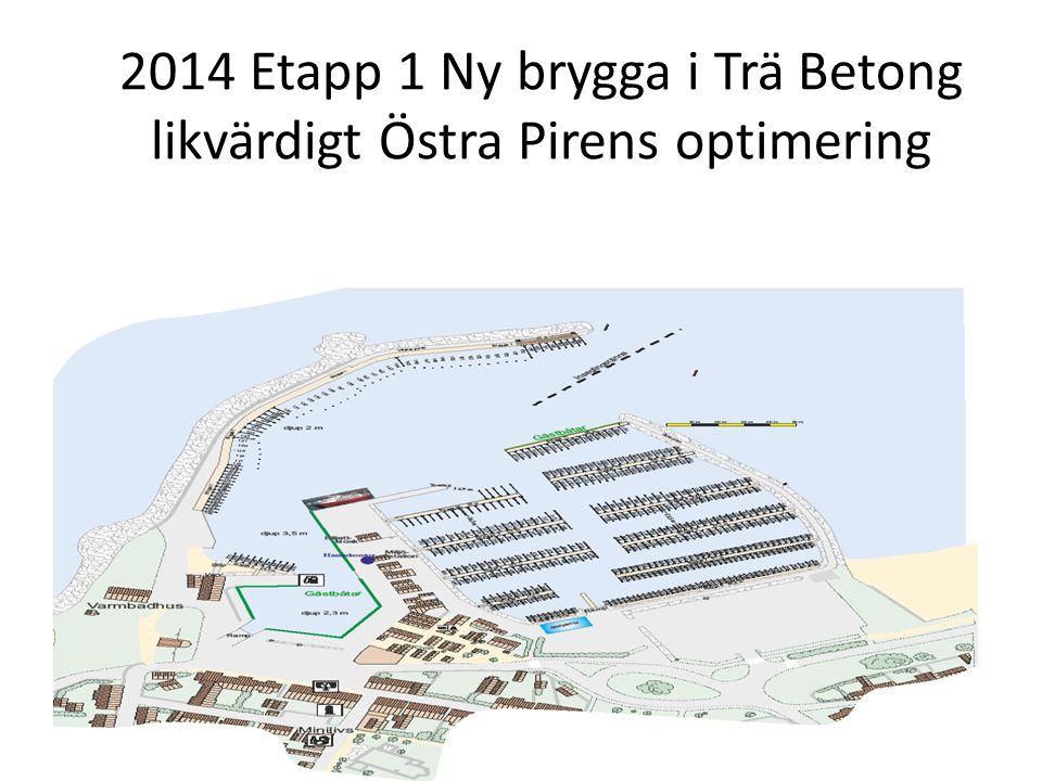 2014 Etapp 1 Ny brygga i Trä Betong likvärdigt Östra Pirens optimering
