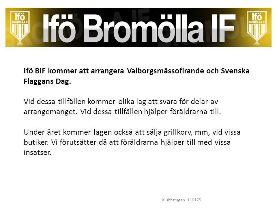 Ifö BIF kommer att arrangera Valborgsmässofirande och Svenska Flaggans Dag.